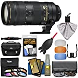 Nikon 70-200mm f/2.8E FL VR AF-S ED Zoom-Nikkor Lens with Case + 3 UV/CPL/ND8 Hoya & 6 Color Filters + Kit