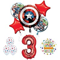 Mayflower The Ultimate Avengers Super Hero 3rd Birthday Party Supplies and Balloon Decorations
