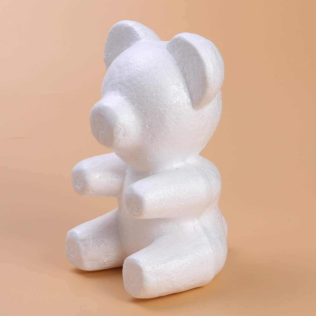 Amosfun 3pcs Foam Bear Shape Modelling Polystyrene Styrofoam Bear Mould White DIY Craft for Flower Arranging Gift Wedding Party Decoration 20cm x 13cm