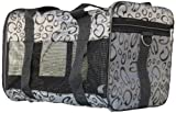 Anima Airline Approved Travel Carrier, 15-Inch by 9-Inch by 10-Inch, Grey G-Print, My Pet Supplies