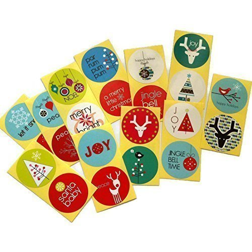 ickers for Holidays - Envelope Seal, Favor and Gift Wrapping Label - Set of 50 ()