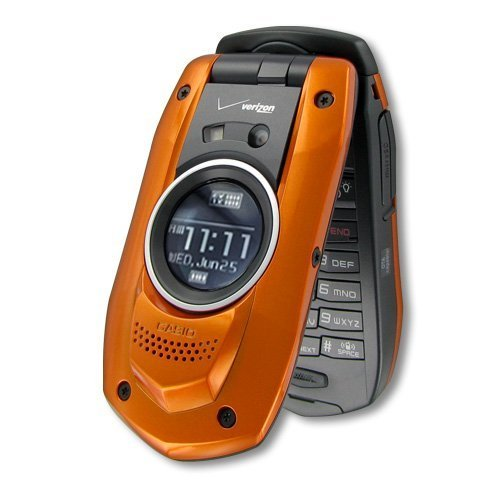 Casio G'zOne Boulder for Verizon Wireless (Orange) Front Speaker – Camera – Rugged – Water Resistant