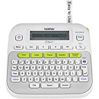 Brother Printer Compact Label Maker VALUE PACK with 2 Tapes (PT-D210)(TZE2312PK)