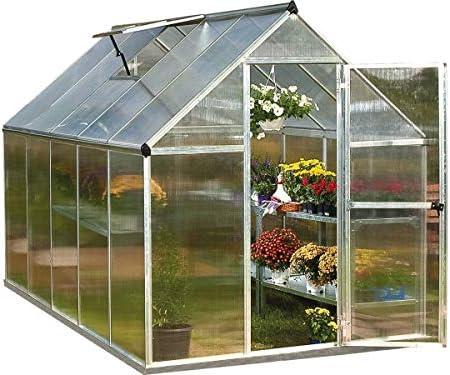 Viva Green 1174 _ 701631 Multiline Invernadero policarbonato/plástico Aluminio 5, 6 m² 185 x 306 x 208 cm: Amazon.es: Jardín