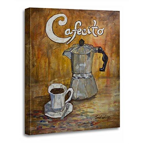 TORASS Canvas Wall Art Print Cafe Cafecito Cuban Coffee Perculator Cup Saucer Spanish Artwork for Home Decor 12