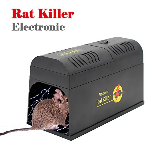 Seicosy Electronic Mouse Trap Humane Rodent Killer Trap Rat