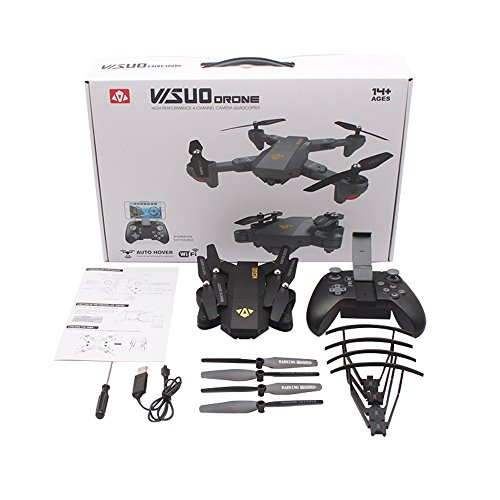 OKPOW-2MP-120-Wide-Angle-Selfie-Drones-24G-Foldable-RC-Quadcopter-Wifi-FPV-Drone-Altitude-Hold-3D-Flips-Rolls-6-Axis-Gyro-Gravity-Sensor-RTF-RC-Drones