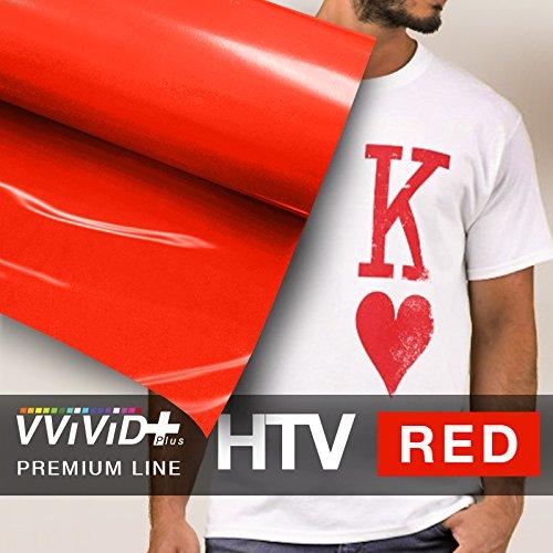 VVIVID+ Red Premium Line Heat Transfer Vinyl Film for Cricut, Silhouette & Cameo (12