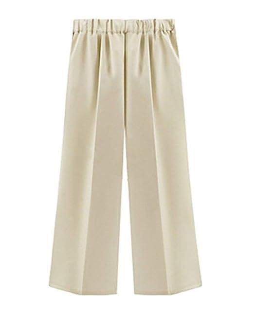 Vdual Tallas Grandes Pantalones De Fiesta Mujer Pantalones Anchos Gasa  Cropped Elasticos Elegante Baggy Cintura Alta Fluidos Pantalon Palazzo   Amazon.es  ... b1ac17ff8b7