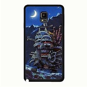 Howl'S Moving Castle Phone Case Stylish Design for Samsung Galaxy Note 4 Miyazaki Amine Movies