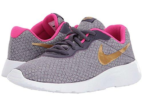 NIKE Kids Tanjun (PS) Dark Raisin Metallic Gold Pink Size 13 (Nike Sneakers For Girls)