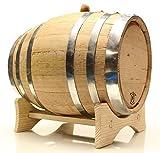 Golden Oak Barrel - Black Steel | Polished Steel