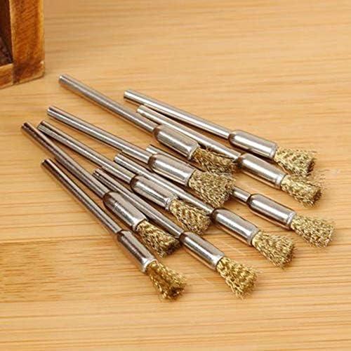 5 x Kupfer-Drahtb/ürsten Mini Drahtb/ürsten Messing Topfrad f/ür Schleifer oder Bohrer 3 x 5 mm Set Elektrisches Schleifen Schnitzzubeh/ör