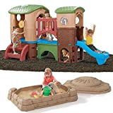 Step2 Clubhouse Climber and Sandbox Combo Set for Kids - Durable Outdoor Activity Toys Playset