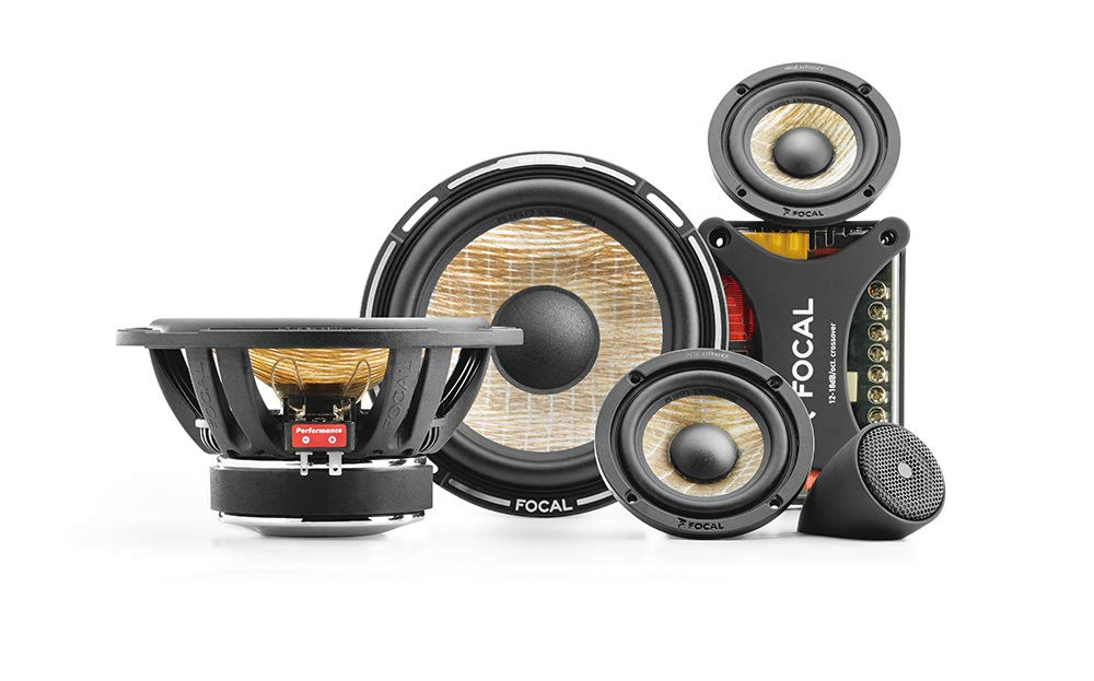"Focal PS165F3 FLAX 6.5"" 3-way component kit, RMS: 80W - MAX: 160W"