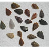 "Set 25 Indian Arrowheads Agate New Replica 1/2 "" - 1 1/2 "" L"