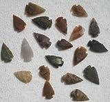 Set 25 Indian Arrowheads Agate New Replica 1/2