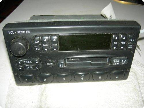 radio ford van 99 am fm cassette w o cd button id. Black Bedroom Furniture Sets. Home Design Ideas