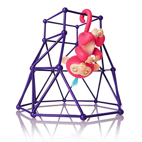 Price comparison product image Interactive Baby Monkey Playset, Baby Monkey Jungle Gym Playset Monkey Climbing Stand Platform (Purple)