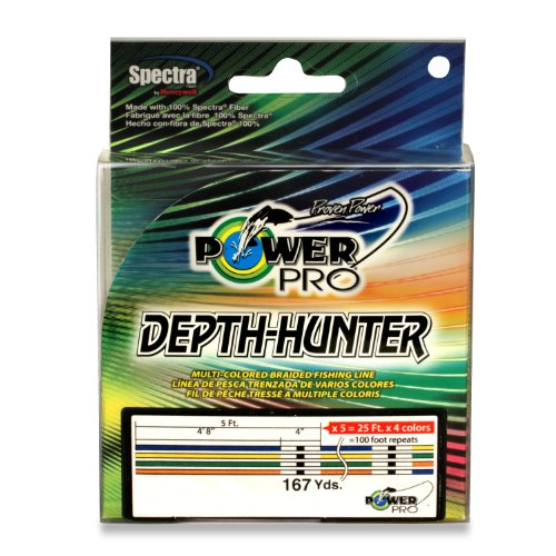 Power Pro Depth-Hunter Metered Line, 10 Pound/167 Yard