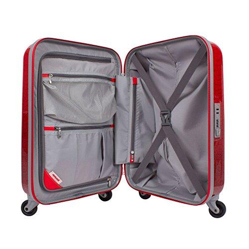 suitsuit leicht Spinner Koffer rot Lippenstift Krokodil–Set von 3Fällen 20, 24, 71,1cm–Plus beau Perry Tasche für Life