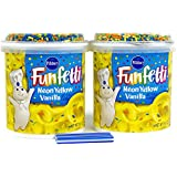 Bundle:Pillsbury Funfetti Frosting with FREE candles (Neon Yellow Vanilla)