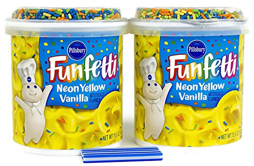 Bundle:Pillsbury Frosting with FREE candles (Neon Yellow Vanilla)