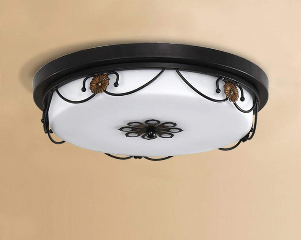 YG Ceiling Light Retro European-Style Iron Pastoral Living Room Lamps Bedroom Lamps Room Room Lamps Lde Ceiling Lamps,A