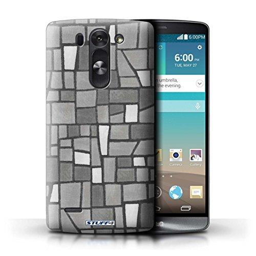 Kobalt® Imprimé Etui / Coque pour LG G3 S (Mini)/D722 / Gris/Blanc conception / Série Carrelage Mosaïque