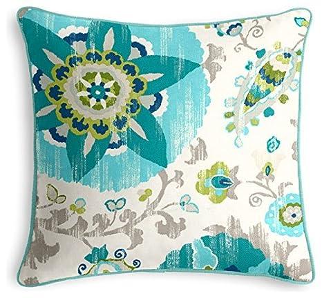 cboutletart Aqua Suzani - outdoor almohada exterior cojines ...