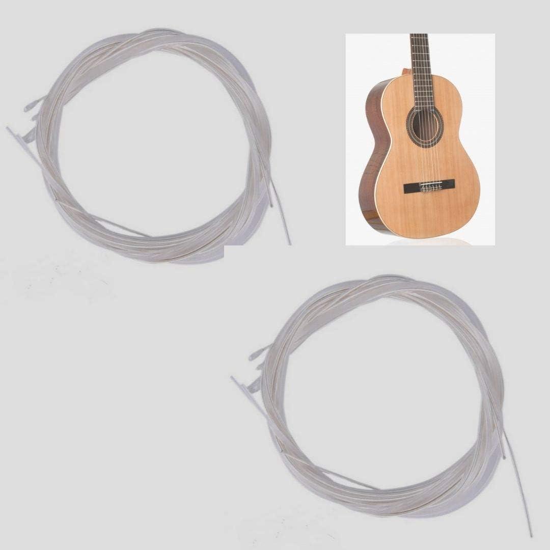 BIGDOM Kit de 2 Juegos de Cuerdas Guitarra Clásica Española, 12 Cuerdas guitarra. 2 Paquetes de Cuerdas.