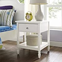 Better Homes and Gardens Lillian Nightstand, White | Convenient drawer providing sizeable storage space