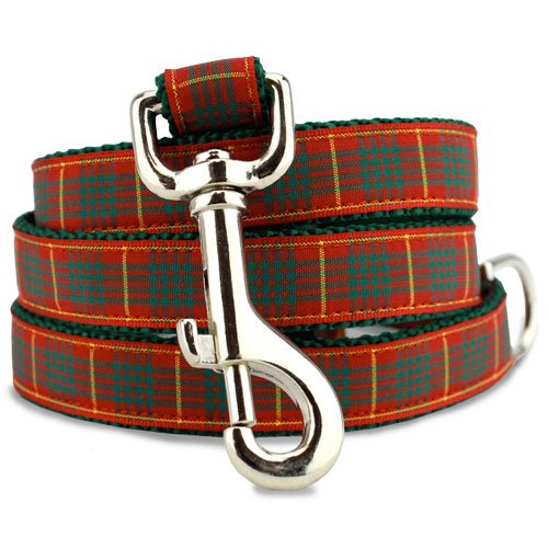 Holiday Dog Leash, Plaid Cameron Tartan