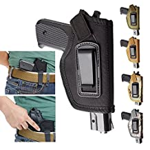 Holster 1PC Inside The Waistband IWB Concealed Belt Pistol Holster Fits GLOCK 17 22 23 32 33 43 / M&P Shield in 9mm/ Ruger LC9, LC380 and Similar Size Pistols -H53