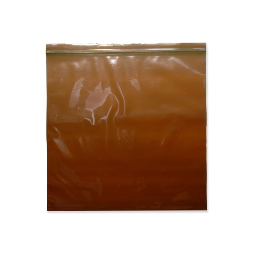 PDC Healthcare ABG009 Amber Plastic Hospital Bag, Zip Lock, 3 mil, 5'' x 8'' (Pack of 1000)