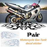 Shentesel 2Pcs Motorcycle Stickers Gas Fuel Oil