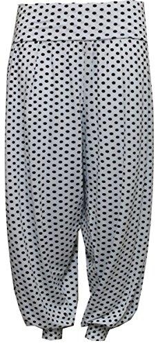 FASHION FAIRIES - Pantalones harén con parte inferior ceñida talla grande para mujer, talla 40-56 WHITEPOLKA