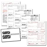 2018 Laser Tax Forms - W-2 Income (4-Part Set) & Self Seal Envelope Kit for 50 Employees - Park Forms
