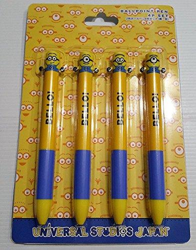 [USJ 공식 한정 상품]  미니언즈(minions) 2 색볼 펜 4개 세트  MINION 상품