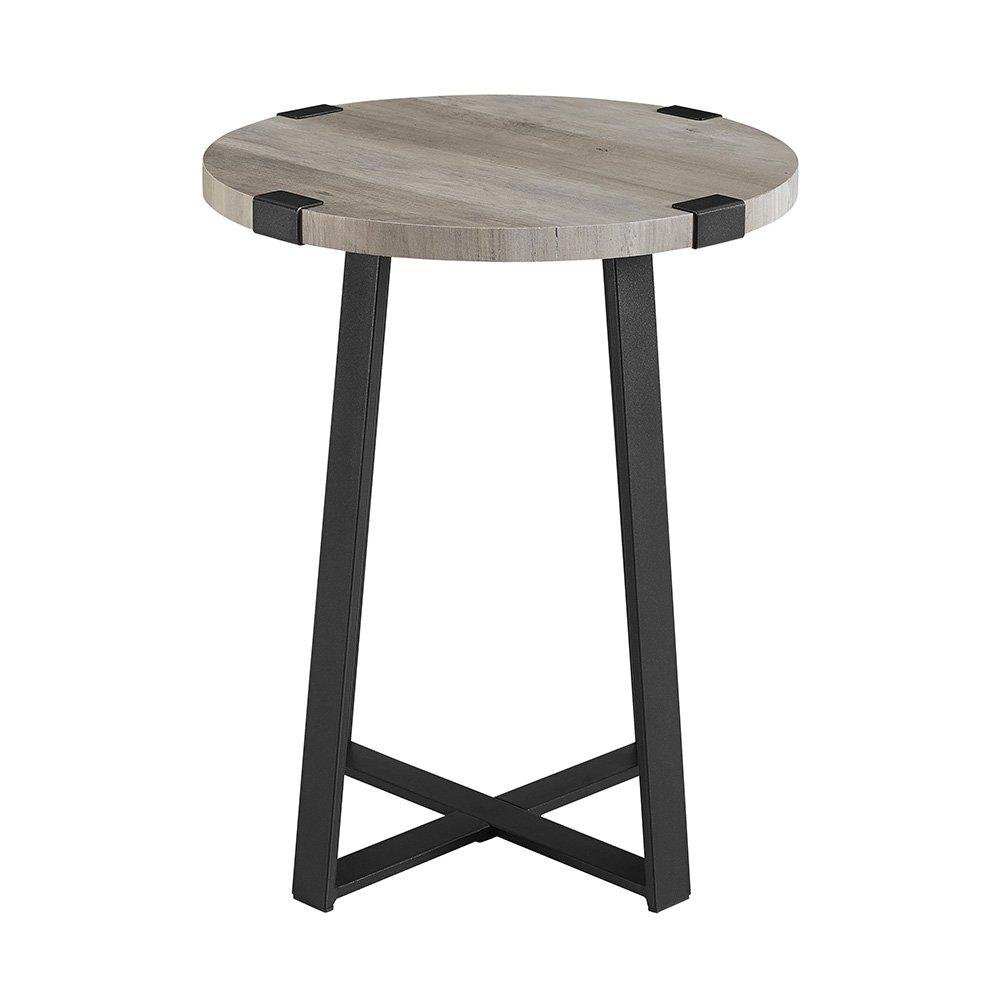 WE Furniture AZF18MWSTGW Side Table, Grey Wash by WE Furniture (Image #4)