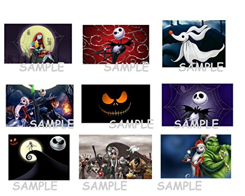 Free Christmas Decals - 9 Disney The Nightmare Before Christmas inspired Stickers, Birthday party favors, decals, labels, crafts, scrapbooking