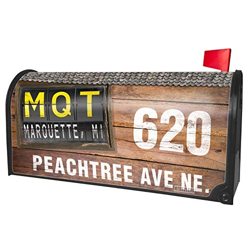 NEONBLOND Custom Mailbox Cover MQT Airport Code for Marquette, -
