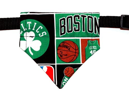 Boston Celtic, Over the Collar, Reversible Dog Bandana, Bell Art Designs, Extra Small, DCXS0027