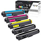 GPC Image 5-Pack Compatible Toner Cartridge Replacement for Brother TN221 TN-221 TN225 TN-225 Toner Works with Brother MFC-9130CW HL-3170CDW MFC-9340CDW HL-3140CW HL-3180CDW MFC-9330CDW Laser Printer