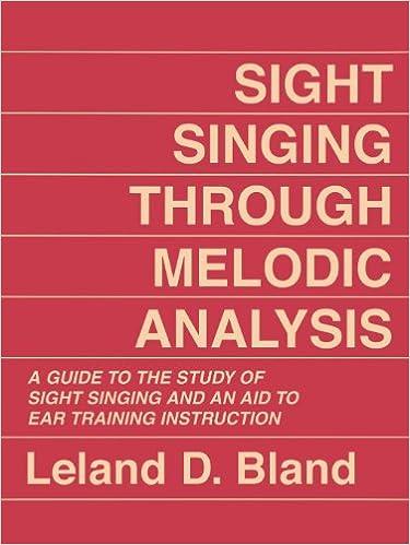 Epub-kirjat ilmaiseksi ladattavissa Sight Singing Through Melodic Analysis: A Guide to the Study of Sight Singing and an Aid to Ear Training Instruction by Leland D. Bland PDF CHM ePub