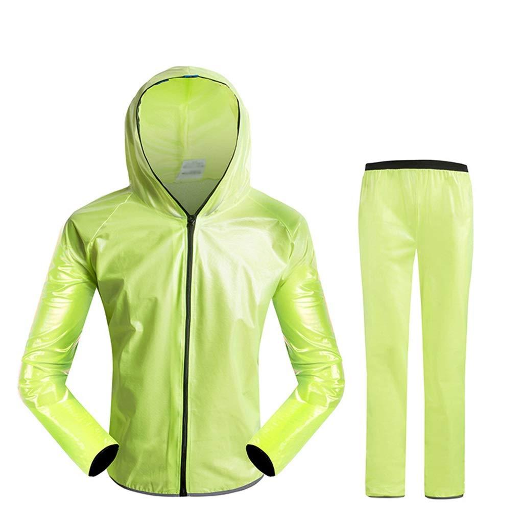 jaune petit DXJNI Imperméable d'extérieur - Pantalon imperméable Fendu pour Hommes et Femmes