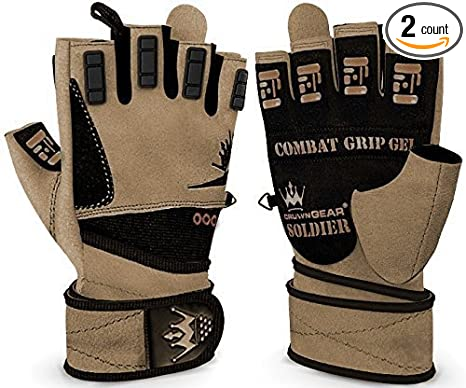 Amazon Com Crown Gear Weightlifting Gloves For Crossfit Workout