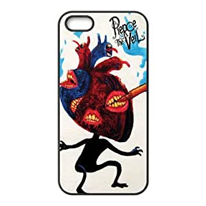 5s Case, iPhone 5 5s Case - Fashion Style New Pierce The Veil Painted Pattern TPU Soft Cover Case for iPhone 5/5s(Black/white)