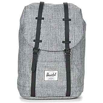 Herschel Retreat Unisex Casual Backpack - Polyester, Raven Crosshatch (Grey (Raven Crosshatch) 10066-01132-OS)