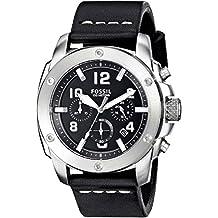 Fossil Men's Modern Machine FS4928 Black Leather Quartz Watch